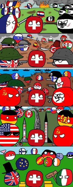 Switzerland throughout history...