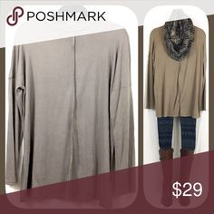 Mocha Tunic Top 🍂🍁BOUTIQUE🍁🍂 ✅Lightweight, flowy, and stretchy 😊  ✅Comes in 3 sizes: S, M, and L ✅I stock other items (like scarves, leggings, and ponchos) that complement each other --- go take a look!  ✅Price firm, BUT... ✅Want 15% off AND a free gift? Bundle 3+ items!  ✅Check out my other tunic colors! 🍁🍂💥Happy Poshing!💥🍂🍁 Tops Tunics