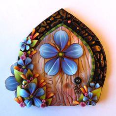 Fairy Door Pixie Portal Fairy Garden Decor by Claybykim on Etsy