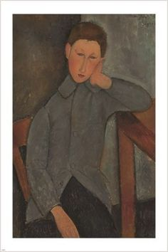 THE BOY amedeo modigliani FAMOUS PAINTING art poster MODERN collectors 24X36