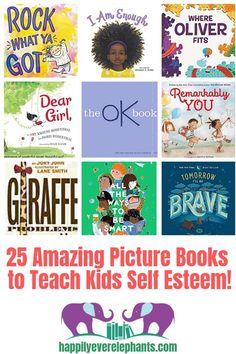 25 Self Esteem Books for Kids! 25 Self Esteem Books for Kids! Self Confidence Books, Self Esteem Books, Toddler Books, Childrens Books, Baby Books, Read Aloud Books, Good Books, Books For Boys, Best Books For Toddlers