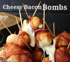 BACON!! and it's wrapped around CHEESE!!! Yes, it's so SO bad but I want to savor every greasy delicious morsel.    ~Cheesy Bacon Bombs!
