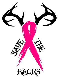 Save A Rack Breast Cancer Ribbon Antlers Motivational Ladies Beater Tank Top