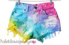 Vintage LEVIS Rainbow Tie Dye Dyed Denim by kaleidoscopeeyesvtg, $65.00