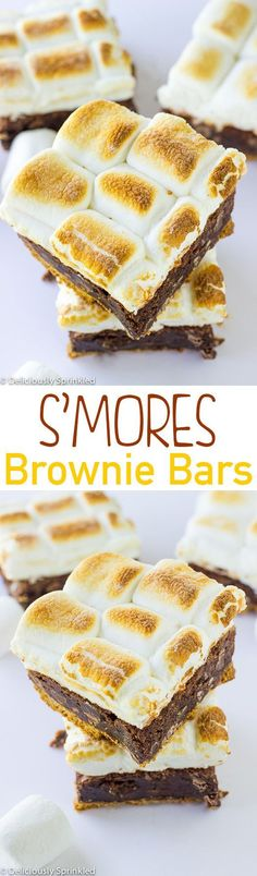 S'mores Brownie Bars, no campfire required!