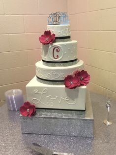 Wedding Cake for 25th Vow Renewal Ceremony