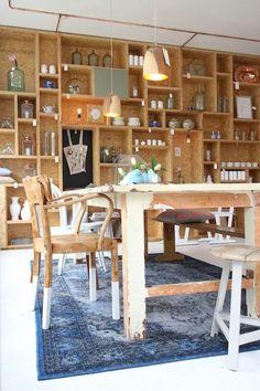 Tried & Tested: Boterham Amsterdam Interior Concept, Interior Design, Osb Wood, Etagere Design, Lunch Room, Cafe Design, Commercial Interiors, Home Decor Furniture, Retail Design