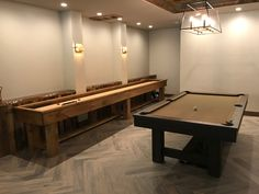 Nothing like personal service. Owner just inspected & level handcrafted Ponderosa Shuffleboard table in Colorado.