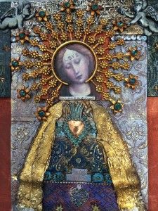 The home of Laurie Mika-mixed media artist, workshop instructor and author. Religious Icons, Religious Art, Mixed Media Collage, Collage Art, Arte Popular, Assemblage Art, Mexican Folk Art, Polymer Clay Art, Web Design