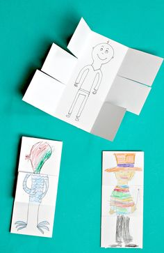 Silly drawing game for kids! More ideas in the book, too!