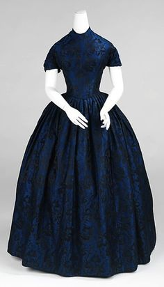 """Something for Sophronia herself to wear"" 1850-1852 Evening Dress  The Metropolitan Museum of Art. Finishing School"