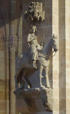 Bamberger - The Bamberg Horseman, a local symbol. - Reiter BW 2 - Bamberg - Wikipedia, the free encyclopedia