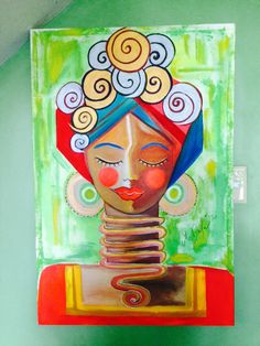 African Beauty Acrylic on canvas 2x3ft.