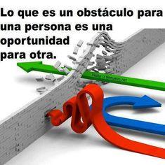 Lo que es un obstáculo para una persona es una oportunidad para otra.