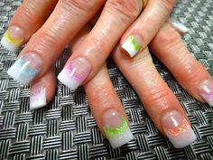 perfect for easter Easter Nail Designs, Holiday Nail Designs, Pretty Nail Designs, Nail Designs Spring, Holiday Nails, French Acrylic Nails, Pink Acrylic Nails, French Tip Nails, Nail Art Designs Images