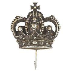 Gold queen crown coat hook - Decorative accessories - Home accessories - Home & furniture - Decorative Accessories, Home Accessories, Crown Decor, Hallway Storage, Queen Crown, Coat Stands, I Am A Queen, Coat Hooks, Debenhams