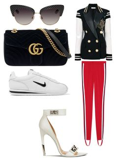 """""""Untitled #1404"""" by ednatchiwana on Polyvore featuring Dolce&Gabbana, Faith Connexion, Gucci, NIKE and Givenchy"""