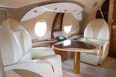 relax in luxury airplanes