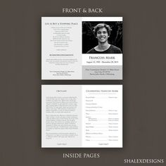 Free Funeral Program Templates Download Free Funeral Program Template  Free Funeral Programs Templates In .
