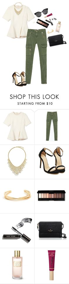 """""""Look #29"""" by madieblue2 ❤ liked on Polyvore featuring Alexander Wang, Zara, BERRICLE, Bobbi Brown Cosmetics, Kate Spade, Estée Lauder, Too Faced Cosmetics, Majorica, springfashion and Spring2017"""