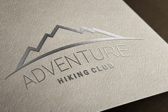 Simple vector logotype for adventure, travel, hiking, backpacking niches…