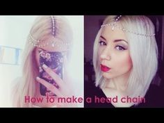 How to make a head chain with a necklace and an earring tutorial - #head #chain #upcycle #hair