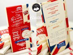 7 Best Invitatii Nuntii Tematice Paris Londra Calatorie In Jurul