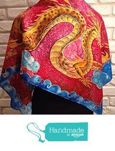 Il Drago cinese sciarpa pura seta 100% dipinta a mano. da La Farfalla creazioni https://www.amazon.it/dp/B06XJB1DKJ/ref=hnd_sw_r_pi_dp_pkWWybGJCH1K7 #handmadeatamazon