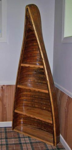 Repurposed Canoe Shelf At Home Goods Nursery Idea