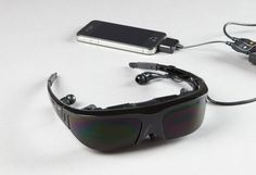 Large Display Video Glasses in Holiday Preview 2012 from Sharper Image on shop.CatalogSpree.com, my personal digital mall.