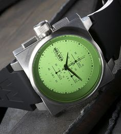 I have read about the watches but never thought I would actually see them. I find these watches very raw and industrial in. Men's Watches, Sport Watches, Cool Watches, Fashion Watches, Watches For Men, Amazing Watches, Beautiful Watches, Rolex, Stylish Watches
