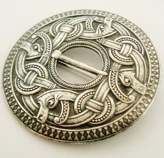 norwegian dragestil brooch | Very rare huge Marius Hammer Dragestil brooch circa 1900