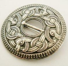 norwegian dragestil brooch | Very rare huge Marius Hammer Dragestil brooch circa 1900
