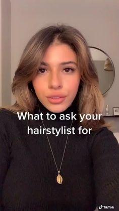 Medium Hair Styles, Curly Hair Styles, Aesthetic Hair, Cut My Hair, Light Brown Hair, Hair Videos, Hair Cutting Videos, Hair Highlights, Balayage Hair