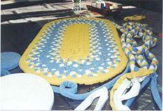 Grandma's braided rugs