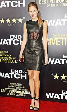Cody Horn black leather dress