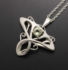 Art Nouveau style orthoclase silver pendant by KAZism on Etsy,(C)Kazuhiko Ichikawa