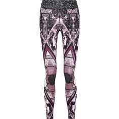 Nike Power Epic Lux printed Dri-FIT stretch leggings ($150) ❤ liked on Polyvore featuring activewear, activewear pants, gym, black, nike activewear pants, nike activewear, nike sportswear and nike