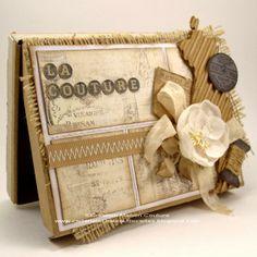 Ensemble pour couture réalisé par Kasimodo. Scrapbooking, Vintage Cards, Weaving, Creations, Couture, Paper, Frame, Decor, Gift