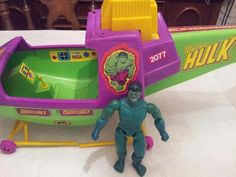 Vintage Incredible Hulk Helicopter TOY Parts | eBay