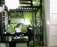 Loft bed/living room