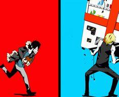 Durarara: Izaya vs Shizu