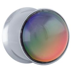 """FreshTrends Mood Stone Surgical Steel Double Flared Plugs - Pair 4G - 5/8"""" at FreshTrends.com"""