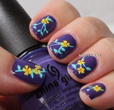 Maria's Nail Art with China Glaze Grape Pop.