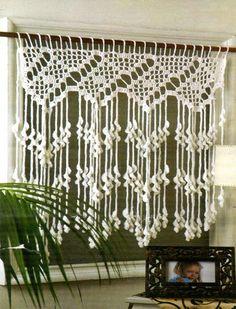 tejidos artesanales en crochet: como tejer una cortina para nuestro rinconcito!!