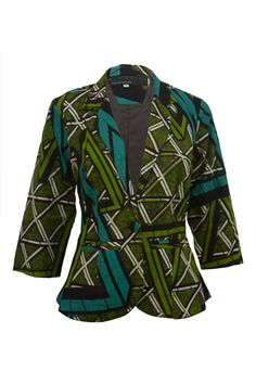 This funky African Ankara print blazer is made from an abstract green and brown design. It has 3/4 length sleeves and comes in a cropped style with a loose but close fit. Pair it with a tee and some skinny jeans or put over a cute A-line skirt! Check out the Indigo Batik version.  […]