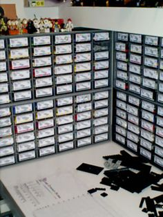 Lego Storage Area - I need to do this with all the Legos we have in my house!