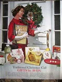 1961 Traditional Christmas Call Gifts By Avon Make Up Perfume Cosmetics Ad
