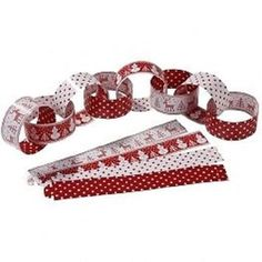 50 x CHRISTMAS PAPER CHAINS DECORATIONS SNOWMAN POLKA DOT PATTERN TALKING TABLES in Home, Furniture & DIY, Celebrations & Occasions, Christmas Decorations & Trees | eBay