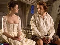 FIRST LOOK: Claire Marries Jamie on Outlander (PHOTOS)| Outlander. This is 18th century undergarments on Claire, not the actual dress.